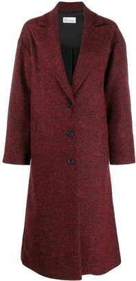 RED Valentino herringbone long coat