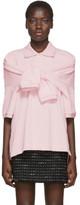 Alexander Wang Pink Tie-Sleeve Polo