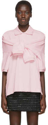 Alexander Wang Pink Tie-Sleeve Polo
