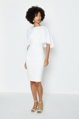 Coast Woven Flare Sleeve Scuba Dress
