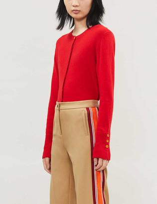 Benetton Round-neck wool-blend cardigan