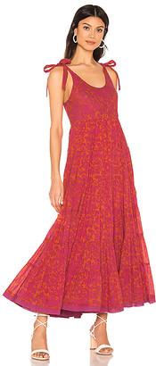 Free People Kikas Printed Midi Dress