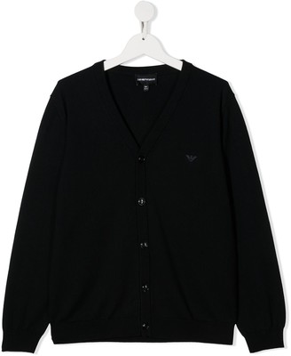 Emporio Armani Kids Button-Up Knit Cardigan
