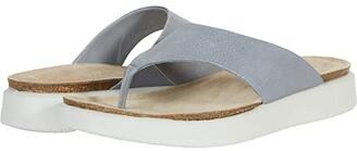 Ecco Corksphere Thong (Silver Grey) Women's Sandals
