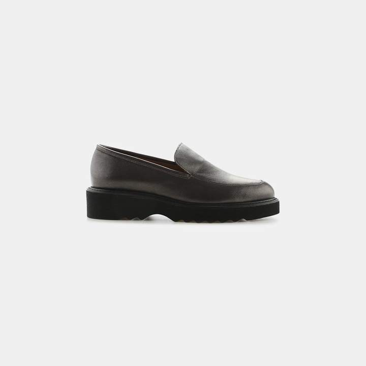 Aquatalia Kelsey Metallic Nappa Leather Loafer