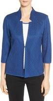 Ming Wang Women's Mandarin Collar Knit Jacket