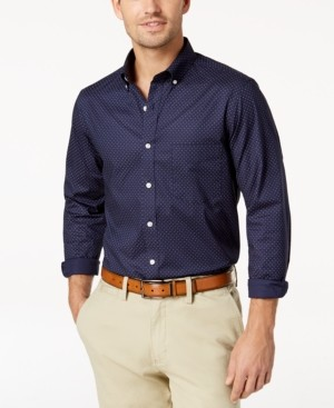 Club Room Men's Micro Dot Print Stretch Cotton Shirt, Created for Macy's