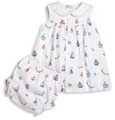 Kissy Kissy Baby's Two-Piece Seven Seas Cotton Printed Dress & Diaper Cover