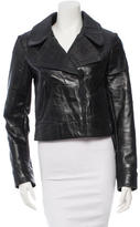 Calvin Klein Collection Embossed Leather Jacket w/ Tags