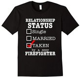 Women's Relationship Status Taken By A Sexy Firefighter T-Shirt Large