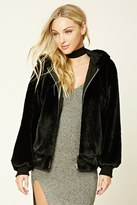 Forever 21 FOREVER 21+ Faux Fur Hooded Jacket