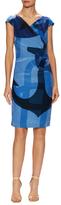 Max Mara Kiota Silk Printed Sheath Dress
