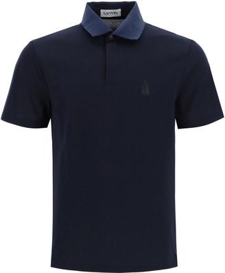 Lanvin Piquet Polo Shirt With Logo