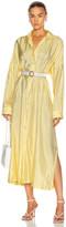 Jil Sander Packaway Shirt Dress in Light Pastel Yellow | FWRD