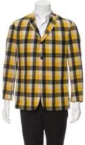 Black Fleece Gingham Wool Sport Coat