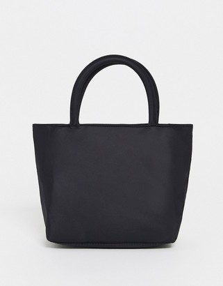 Monki Soraya recycled polyester handbag in black