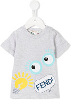 Fendi logo print T-shirt - kids - Cotton - 9 mth