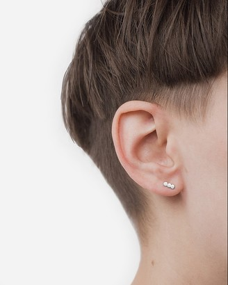 Express One Six Five Silver Sequin Stud Earrings