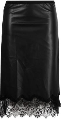 Gold Hawk Lace Trim Straight Skirt