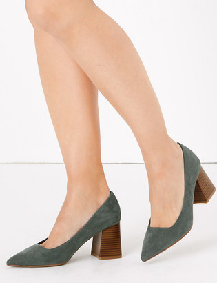 Marks and Spencer Block Heel Pointed Court Shoes