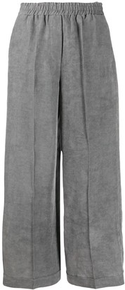 8pm Pleated Wide-Leg Trousers