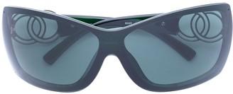 Chanel Pre Owned CC logo sunglasses