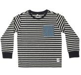 Something Strong Gray & Dark Gray Stripe Tee - Toddler & Boys
