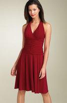 Ruched Jersey Halter Dress