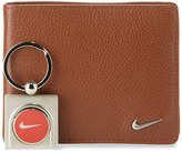 Nike Leather Wallet with Ball Marker Key Chain, Brown