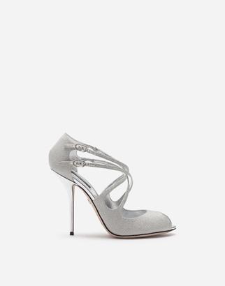Dolce & Gabbana Glittery Nappa Mordore Sandals