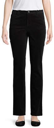 ST. JOHN'S BAY Womens Mid Rise Straight Corduroy Pant