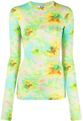 MSGM tie-dye long-sleeve T-shirt