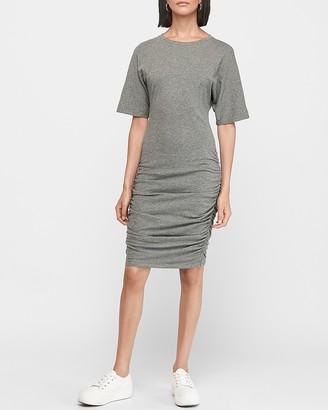 Express Ruched Side Dolman Sleeve T-Shirt Dress