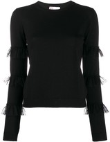RED Valentino tulle-embellished knitted top