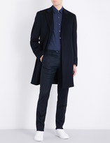 Canali Single-breasted classic-fit wool and cashmere-blend coat