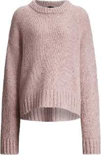 Joseph Pink Wool JF003342 Long Sleeve Tweed Knit Sweater - wool | pink | X Small - Pink/Pink