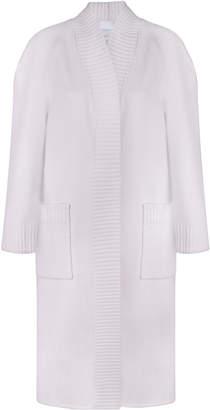 BEVZA Wool Double-Knit Robe Coat