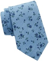 Tommy Hilfiger Tonal Bouquet Silk Tie