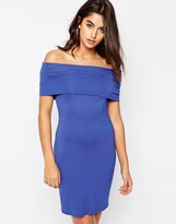 Asos Bardot Off Shoulder Mini Bodycon Dress