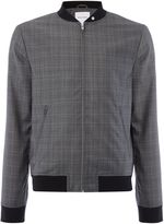 Peter Werth Men's Rogers Wool Mix Check Bomber Jacket