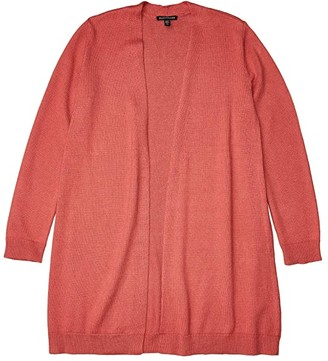 Eileen Fisher Long Cardigan (Bright Sandstone) Women's Clothing