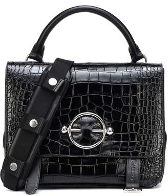 J.W.Anderson Disc Satchel embossed leather shoulder bag