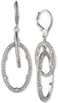 Jenny Packham Silver-Tone Pave Orbital Drop Earrings