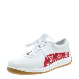 Louis Vuitton X Supreme White Leather Trainers