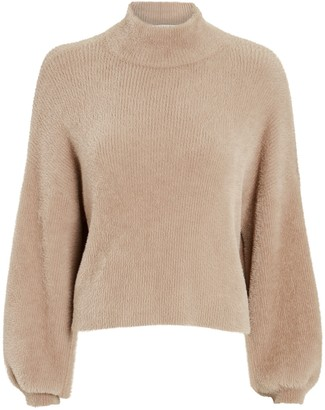 Mason by Michelle Mason Mock Neck Fuzzy Sweater
