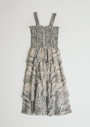 Farrow Women's Aimee Floral Dress in Cream, Size Small | Spandex