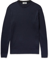 John Smedley - Failand Contrast-trimmed Merino Wool Sweater