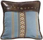 HIEND ACCENTS HiEnd Accents Ruidoso Square Blue-Striped Decorative Pillow
