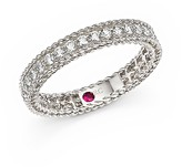 Roberto Coin 18K White Gold Symphony Braided Ring with Diamonds
