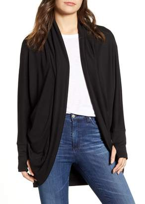 Caslon Shawl Collar Thumbhole Cocoon Cardigan (Regular & Petite)